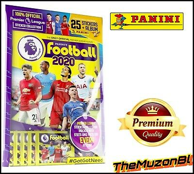 Panini Football 2020 Official Premier League Starter Pack Album + 25 Stickers