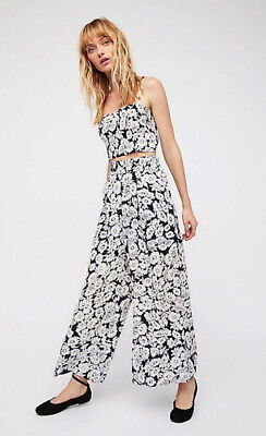Free People Boho Between The Lines Wide Leg Festival Pants Xs