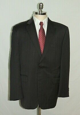 Striped 2 Button Sports Coat Blazer Jacket Burberry London 42R Men Pinstriped NY