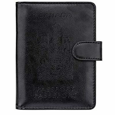 Walnew Rfid Blocking Passport Holdr Travel Wallet Cover Case B-black Lightweight