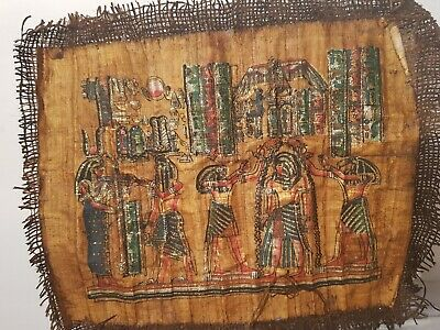 Rare Antique Ancient Egyptian Papyrus 3Gods Horus Isis Toth Amenhotep1526-1504BC