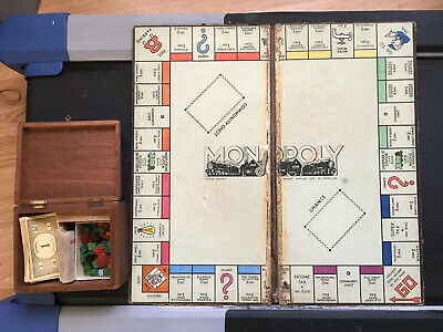 Vintage 1930 or 40 s  MONOPOLY Family Board Game Age 8+ 2-6 Players Waddington