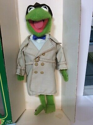 Vintage 1981 Fisher Price KERMIT THE FROG Dress Up Muppet Doll #857 w/Box