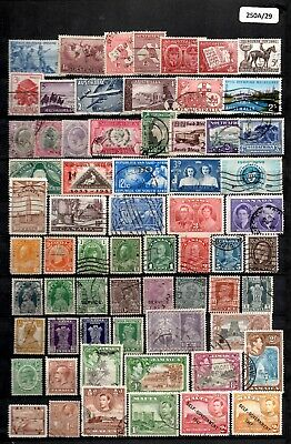 Stockbook Page of Vintage Commonwealth Stamps (A29)