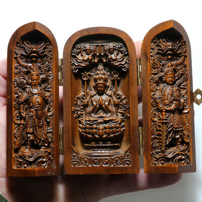 Unique-Chinese Neoclassic Hand Made Wooden Decoration - Sculpture