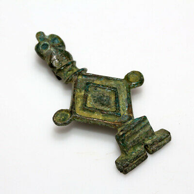 Very Rare Ancient Roman Bronze Turtle Fibula Brooch Circa 200-300 Ad