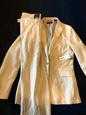 Mens Full Suit Brand New, Tan Color Size 38 Pants 32/32