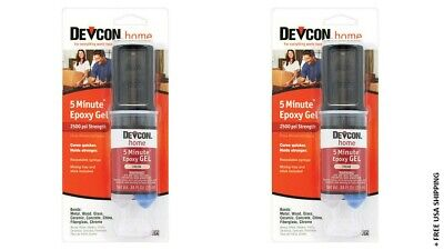 (2) DEVCON HOME 2 TON EPOXY GLUE CLEAR 84 Fl Oz - NEW & OPEN BOX