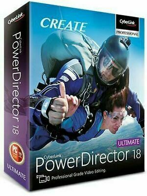 CyberLink PowerDirector Ultimate 18 | Lifetime License_30 Second_Fast Shipping