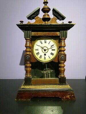 Antique German Junghans Clock complete with key