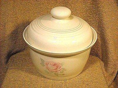 """Royal Doulton Fresh Flowers """"Piccadilly"""" LS 1064 Covered Casserole Pink Rose"""