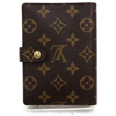 Authentic Louis Vuitton Diary Cover R20005 Agenda PM Browns Monogram 1204526