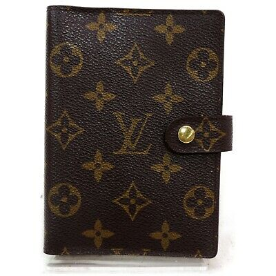 Authentic Louis Vuitton Diary Cover R20005 Agenda PM Browns Monogram 906891