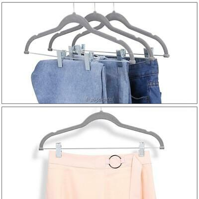 Flocking Non Slip Trousers Coat Hangers 360 Degree Rotating Hook With 35DI