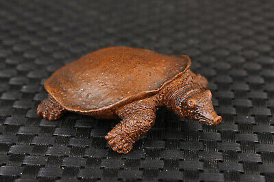 chinese old bronze carved big soft-shelled turtle statue figure