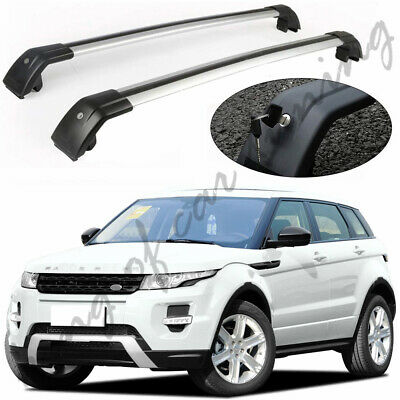 Roof Rack Side Rail Bar Silver Trim Finisher Land Rover Range Rover Evoque 2011+