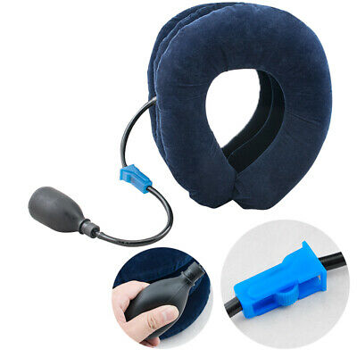 US Air Inflatable Neck Pillow Cervical Head Traction pain Relief Therapy Device
