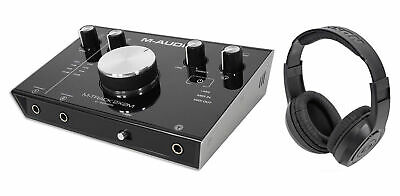 M-Audio M-Track 2X2M 24/92 USB Audio Recording Monitoring Interface + Headphones