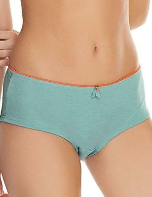 Freya Short Brief Deco Fuse Size S 10 12 Reef Blue Lace Knickers Pants 1326 New