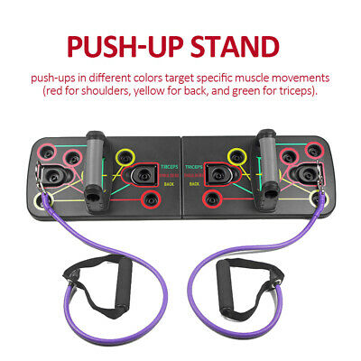 Push Up Rack Board Fitness Workout Train Gym Muscle Exercise Pushup Stands E8M8