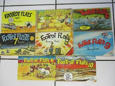 """ FOOTROT FLATS "" COMIC BOOKS. MURRAY BALL.. #'s 3,4,6,7,8,9,10,11,. FOOTROTS"