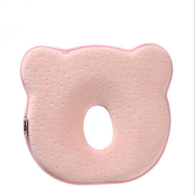 Newborn Baby Cot Pillow Anti Roll Cushion Infant Bed Prevent Flat Head Pad YI