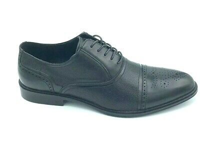 Kenneth Cole Reaction Mens Size 12 M Zac Lace Up Oxford Dress Shoes Black New