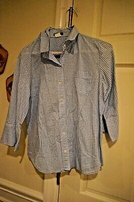 J Crew Woman Gingham  Blouse     Size Medium Gently Used