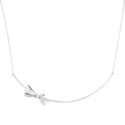 "NEW Authentic Pandora Brilliant Bow Necklace 19.7"" - Sterling Silver 397233CZ-50"