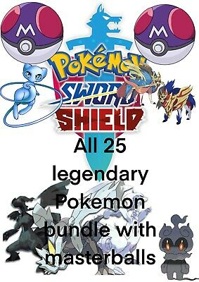 Pokemon Sword and Shield ⚔️ All 25 Legendary Pokemon 6IV SHINY, HOME ADDITIONS!