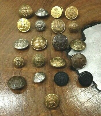 Lovely Very Rare Vintage Antique Old School Mixed Job Lot Army Buttons A716