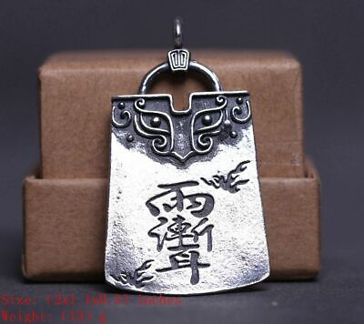 Precious 925 Silver Real Silver Solid Silver Pendant Old Handmade Crafts Mascot