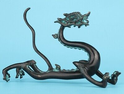Chinese Bronze Statue Dragon Mascot Home Decoration Collection Gifts Old