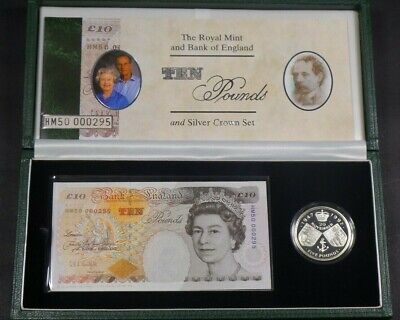 1997 Royal Mint & Bank Of England £10 Note & £5 Silver Coin Collection