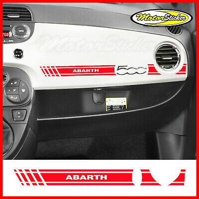 adesivo 500 abarth fiat 595 sticker tuning auto per cruscotto striscie scritta .