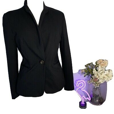 Philosophy Republic Clothing Women's Black Stretch Blazer lined Sz Med