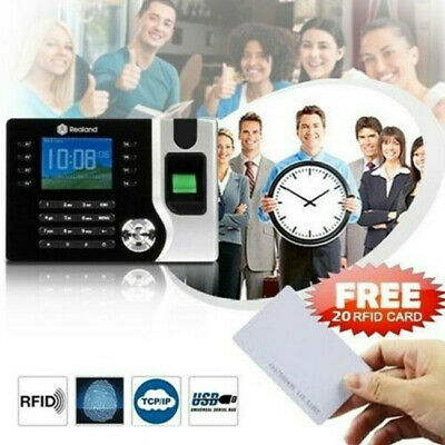 Realand Biometric Fingerprint Time Attendance Clock TCP/IP USB + 20pcs RFID Card