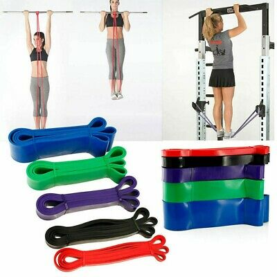 Resistance Bands Power Lifting Exercise Band Fitness Pull Up Band Gym Latex UK