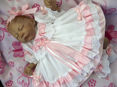 Dream 4-5 Years  Girl Whte Pink Gingham Frilly  Lined Traditional Dress