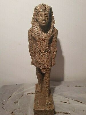 Rare Antique Ancient Egyptian Statue King Ramses unify Crown Sward1279–1213BC