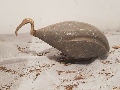 Rare Antique Ancient Egyptian Statue God Toth Ibis Bird Sceince Write1850-1760BC