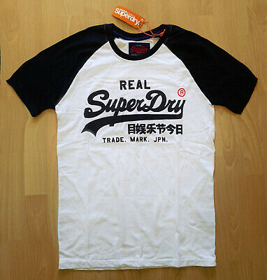 SUPERDRY T SHIRT VINTAGE LOGO 1st RAGLAN TEE WEISS OPTIC Men