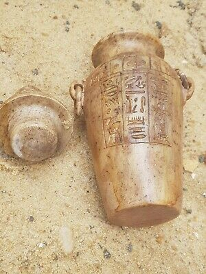 Rare Antique Ancient Egyptian magical Vase Amulet protection Magic 1740-1670BC
