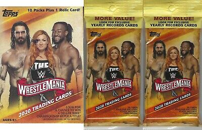 2020 Topps WWE Road to WrestleMania®, 1 Value/Blaster Box + 2 Fat Packs COMBOSet