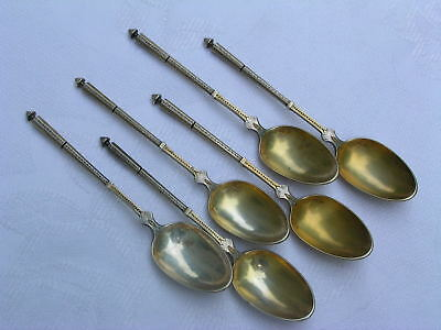 FRENCH STERLING GEORGES BUCHELET SIX DEMITASSE SPOON SET- c.1877