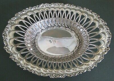 """Antique Whiting Sterling Silver Bowl, Nouveau Scroll & Openwork, 8.25"""""""