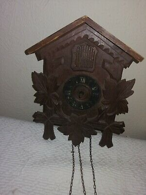 Antique / Vintage, Gebruder Kuner Cuckoo Clock, Sold For Restoration.