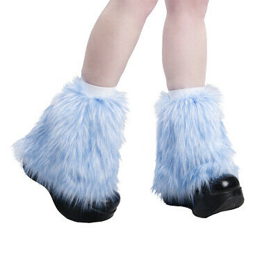 PAWSTAR Pony Puff Leg Warmer furry rave dance fluffies music blue [BFF]2592