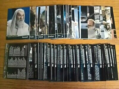 Topps trading trade cards: Lord of the Rings Return of the King full set LOTR