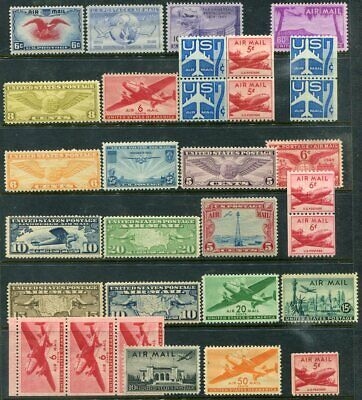 US   Beautiful  Mint  NEVER  Hinged AIR  MAIL  Collection  UPTOWN
